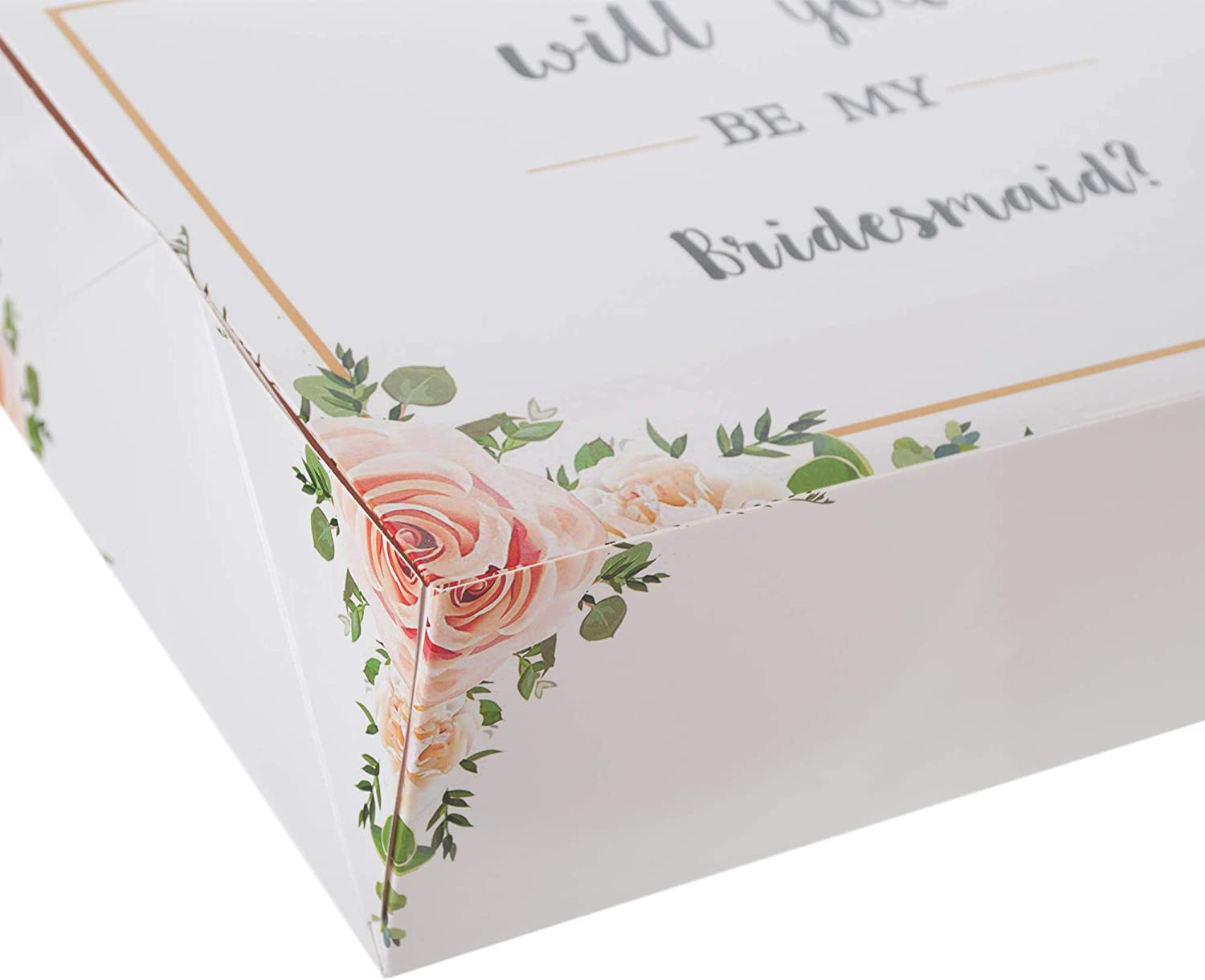 1 Maid of Honor Proposal Box and 5 Will You be My Bridesmaid Boxes for Bridesmaid Gifts Bridesmaid Proposal Box Set of 6