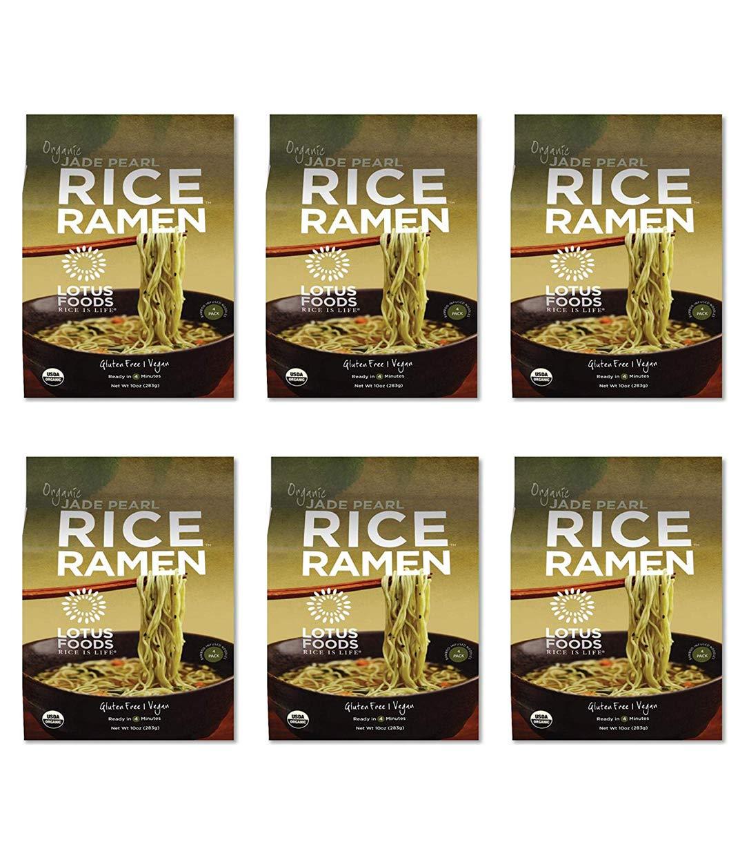 Lotus Foods Organic Quick-Cook Jade Pearl Rice Ramen Noodles, 10 oz, 6Count by Lotus Foods