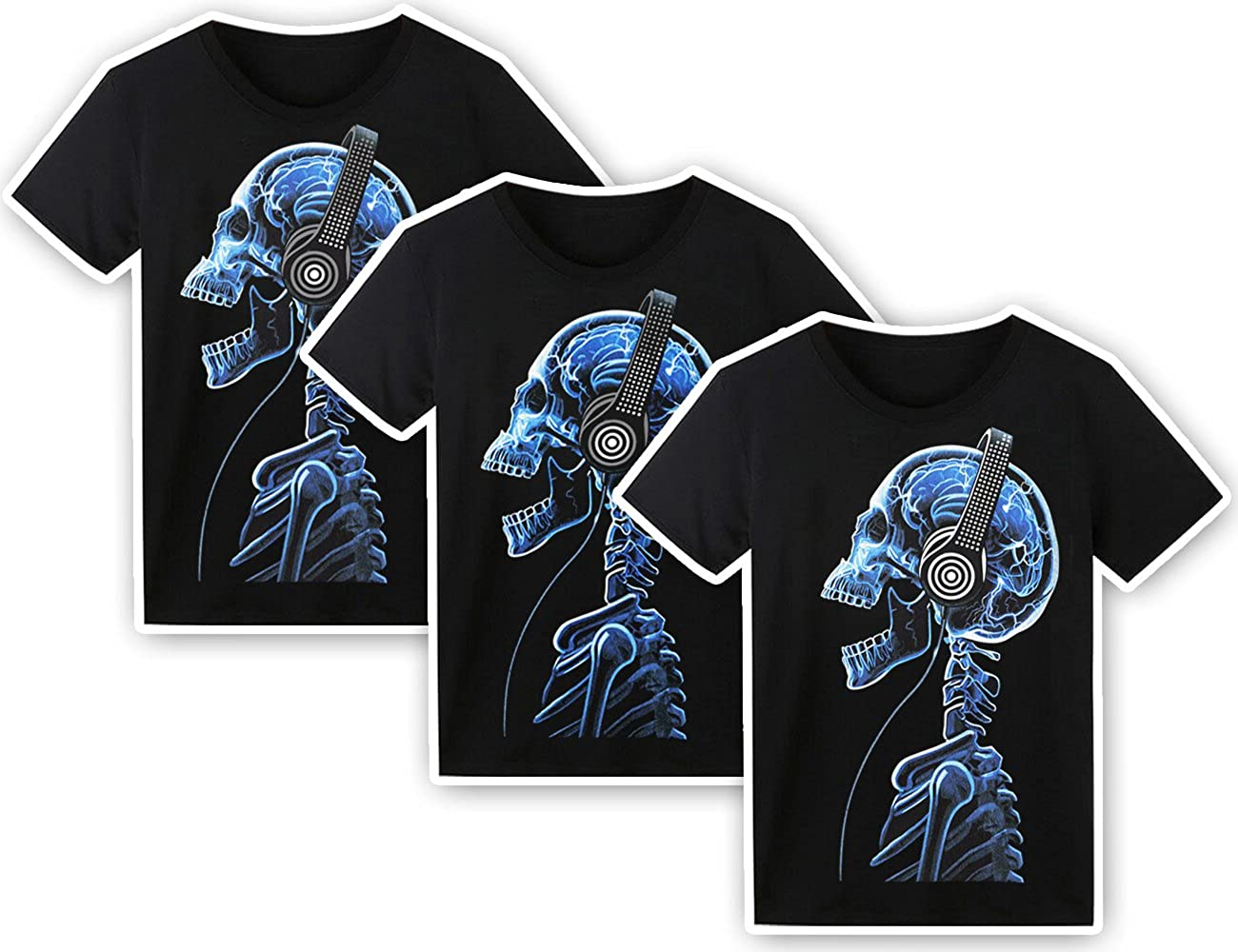 54f8b407 Amazon.com: LED T Shirt Sound Activated Glow Shirts Light up Equalizer  Clothes for Party: Clothing