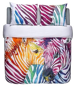 Funda Nordica Zebra.Nightlife Blue Ropa De Cama Saten Algodon Satinado Algodon Percal