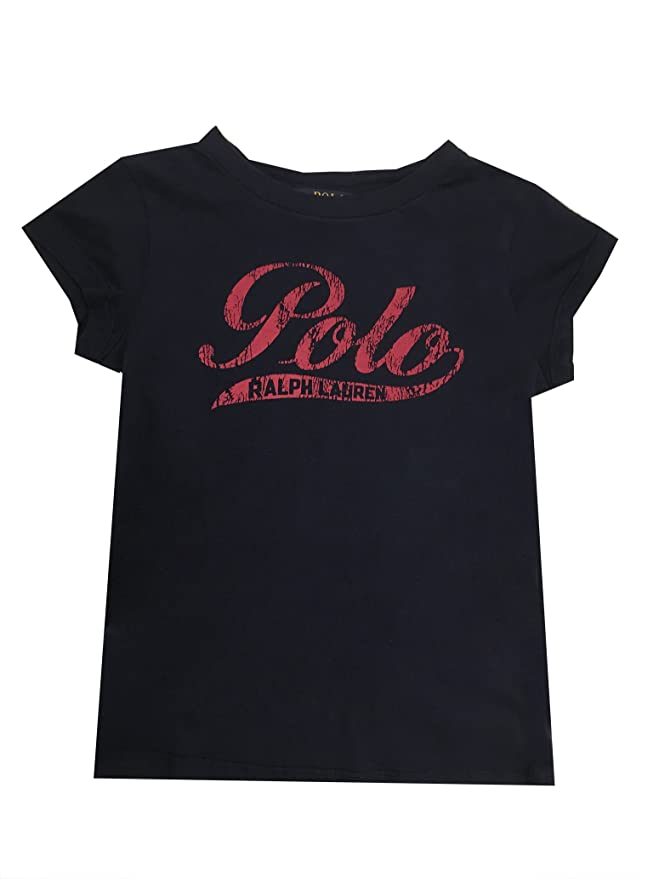 Polo Ralph Lauren Girls Screen-Print T-Shirt Logo
