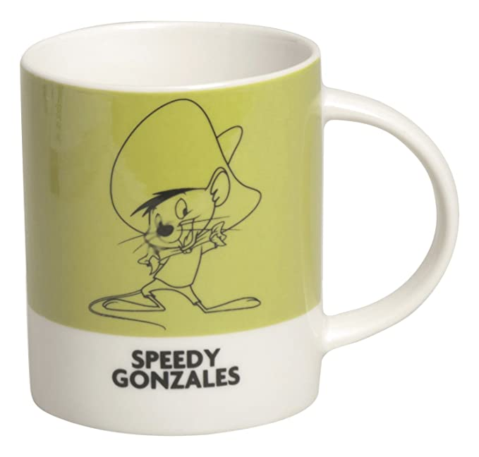 Excelsa Looney Tunes Mug Daffy Duck 300 ml, Porzellan, Rot