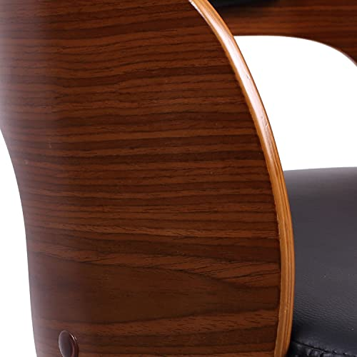 Christies Home Living Bentwood Adjustable Curved Seat – Black Walnut