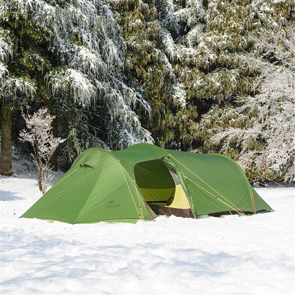 Yuhong Zelt, Ultralight Tunnel Zelte 3-4 Person Outdoor Portable Regenproof One Room und One Living Room Camping Zelt
