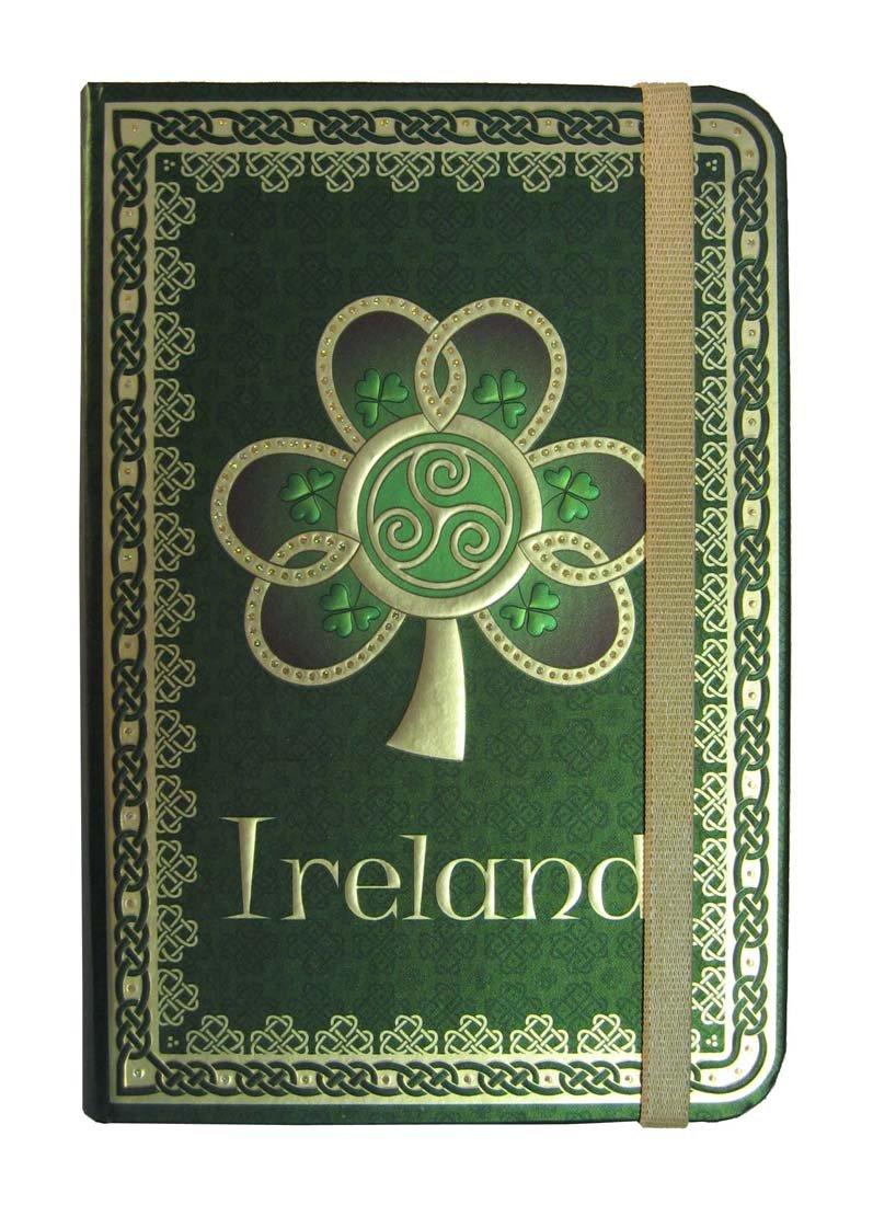 Shamrock Spiral Ireland Foil Notebook With A Green Celtic Design Carrolls Irish Gifts