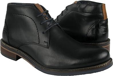 Zerimar Botines de Piel Hombre | Botas Hombre Invierno | Zapatos ...