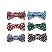 Baby Boys Toddler Pre-tied Bow Tie With Adjustable Neck Strap Kids Bowtie Set of 6