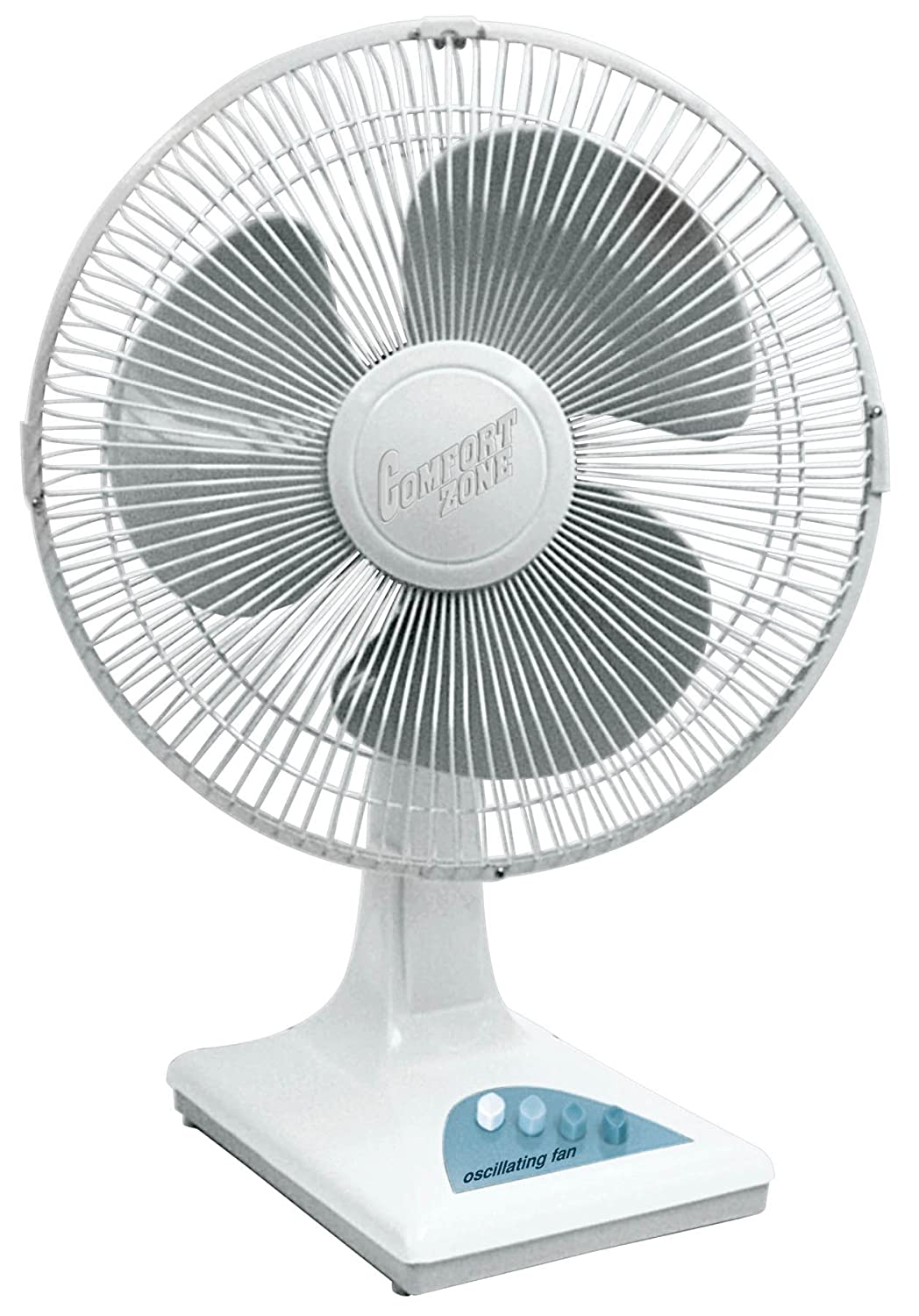 "Comfort Zone Speed Oscillating, 16"" Fan, White"