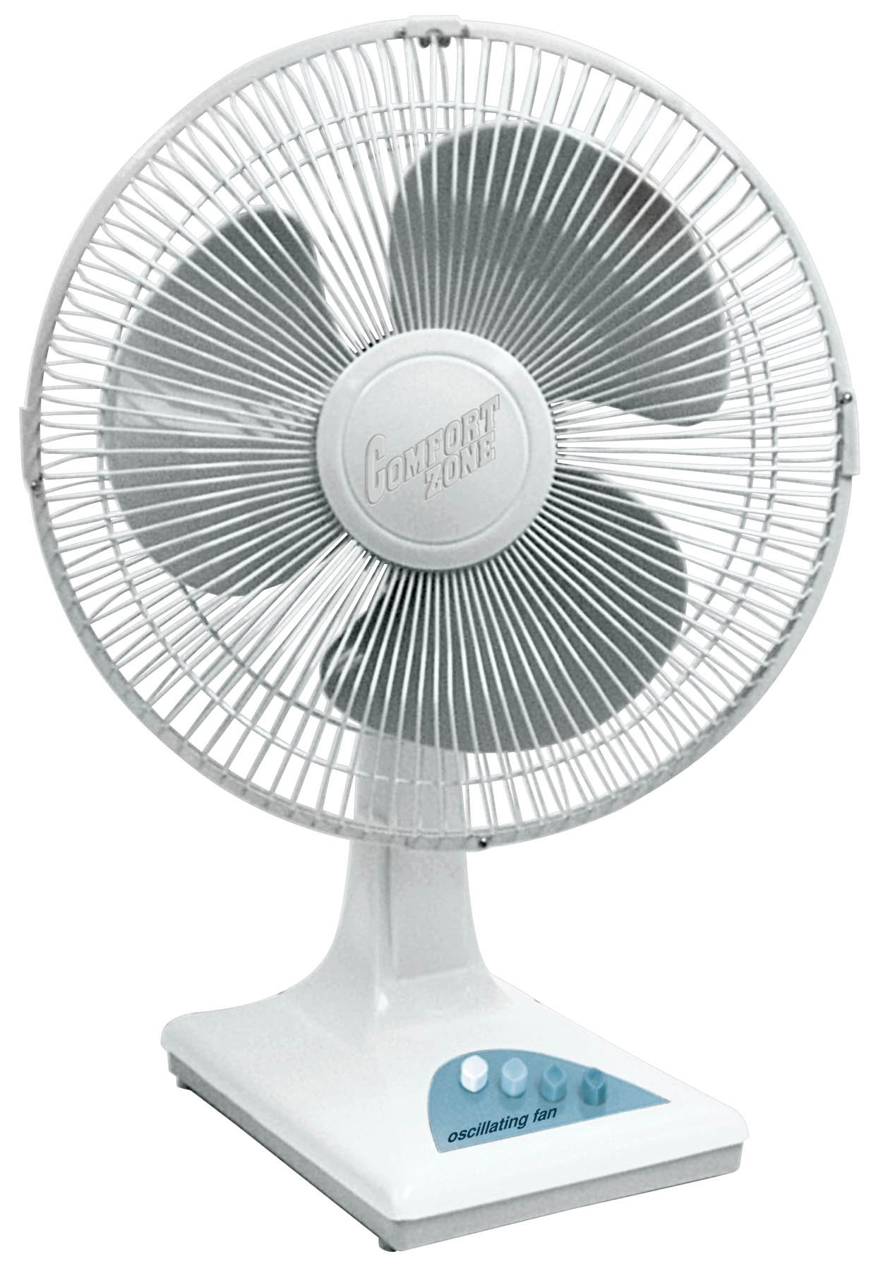 Comfort Zone CZ161WT Quiet 3-Speed 16-inch Oscillating Table Fan with Adjustable Tilt by CCC COMFORT ZONE