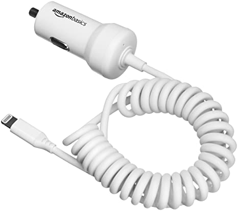 AmazonBasics - Cargador de coche con cable Lightning en ...