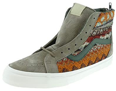 Vans SK8 HI Reissue Zip Classics Suede Knit Walnut: Amazon