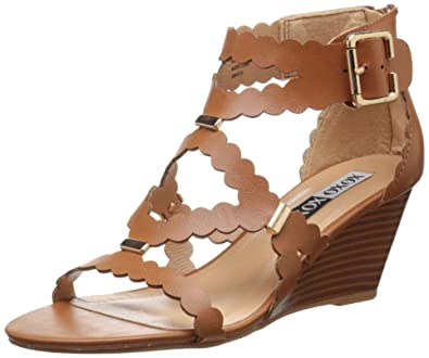 b880e1f83df3 XOXO Women s Scottie Wedge Sandal Tan 6 ...