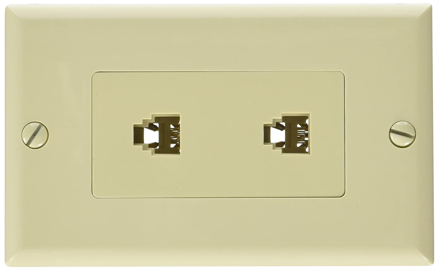 Morris 80170 Decorative Dual RJ11 4 Conductor Phone Jack Wall Plate ...