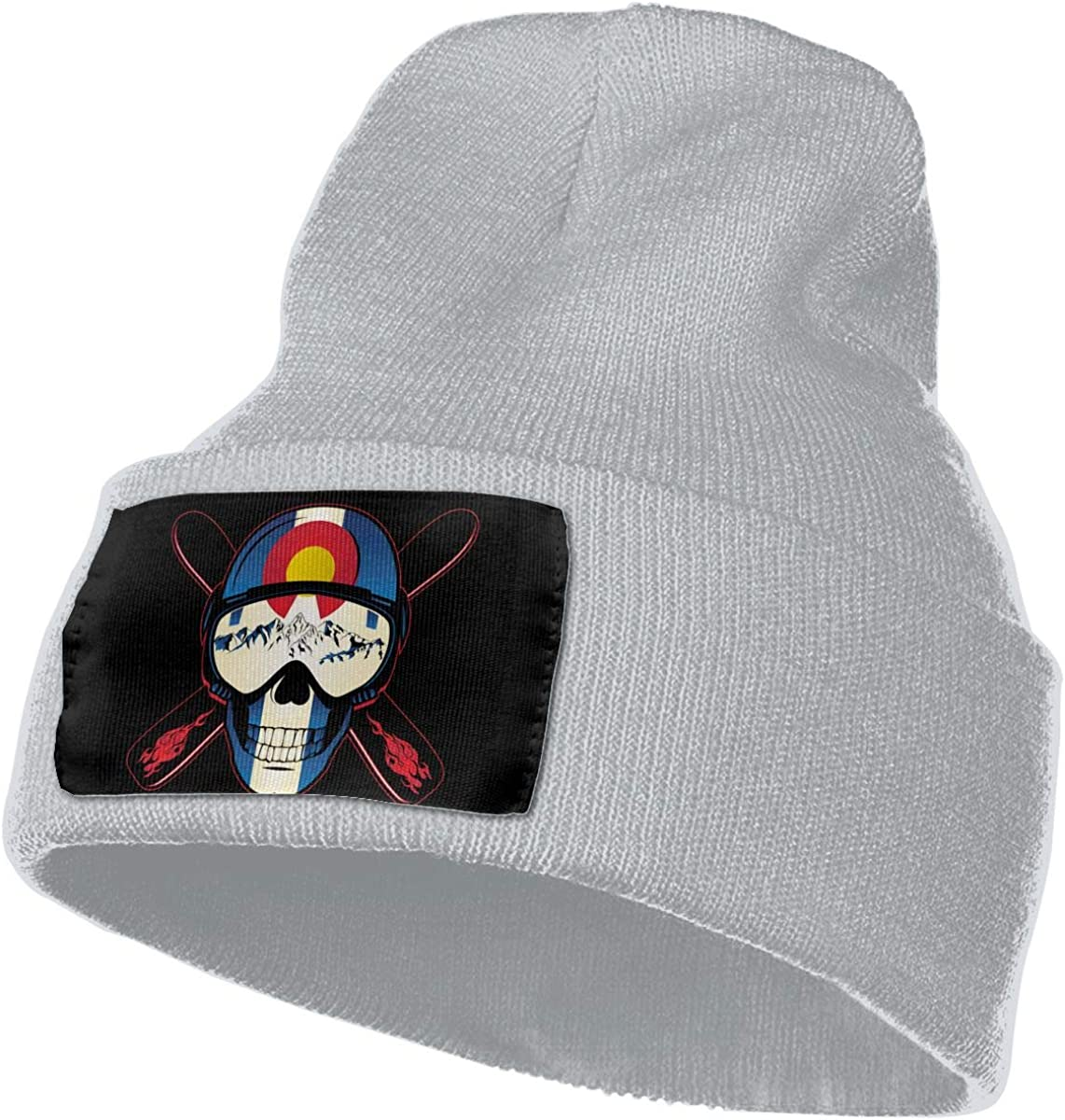Colorado Skull Men/&Women Warm Winter Knit Plain Beanie Hat Skull Cap Acrylic Knit Cuff Hat