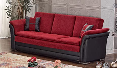 amazon com beyan austin collection upholstered chenille sofa bed rh amazon com Chenille Couch red chenille sofa set