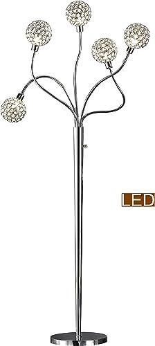 Artiva USA LED7783FLC Soho II Crystal Floor lamp