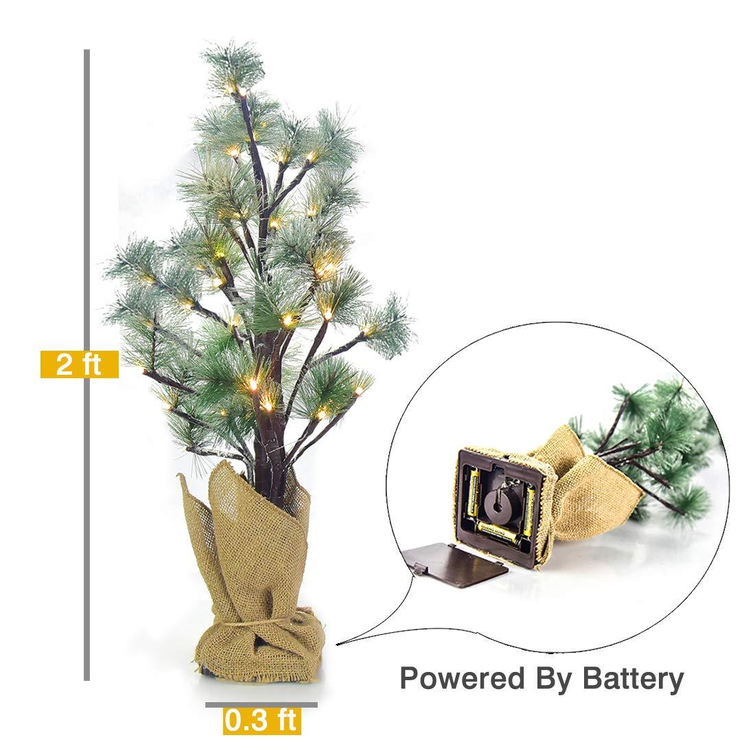 LED Christmas Tree Lights Pine Needle Tree Decoration for Christmas