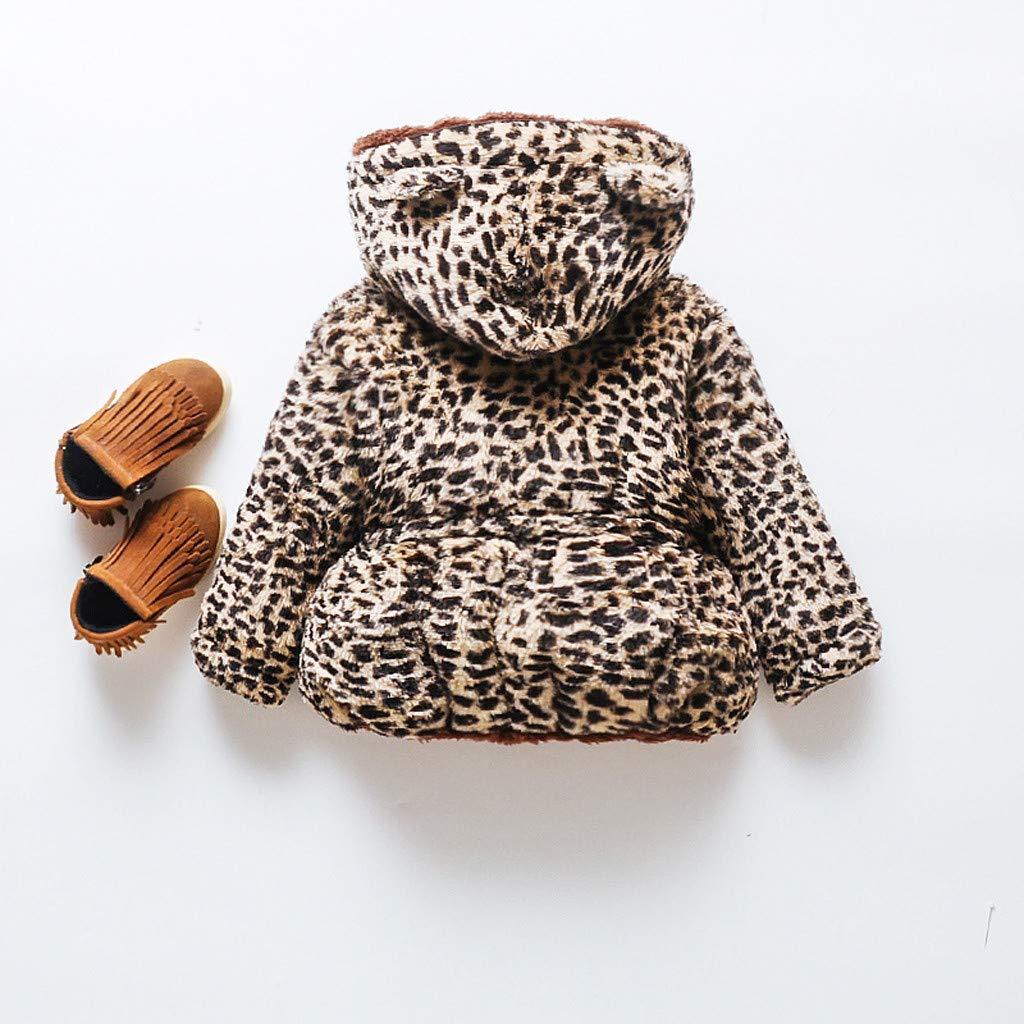 Sayla Babykleidung Winter Outfit Neugeborene M/ädchen Jungen Kleinkind Baby Warme Kapuzenjacke Leopard Oberbekleidung Jacke Kleidung M/äNtel F/üR Mode Kleidung