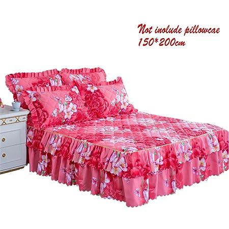 myonly - Falda para Cama de 150 x 200 cm, Estampado Floral, diseño ...