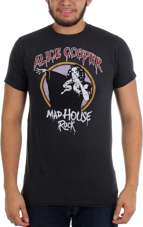 Alice Cooper - - Hombres Madhouse Roca Slim Fit T-shirt en carbón de leña