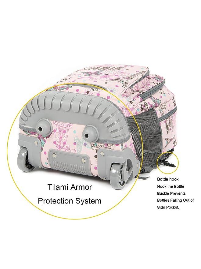 Amazon.com: Tilami - Mochila con ruedas y bolsa de almuerzo ...