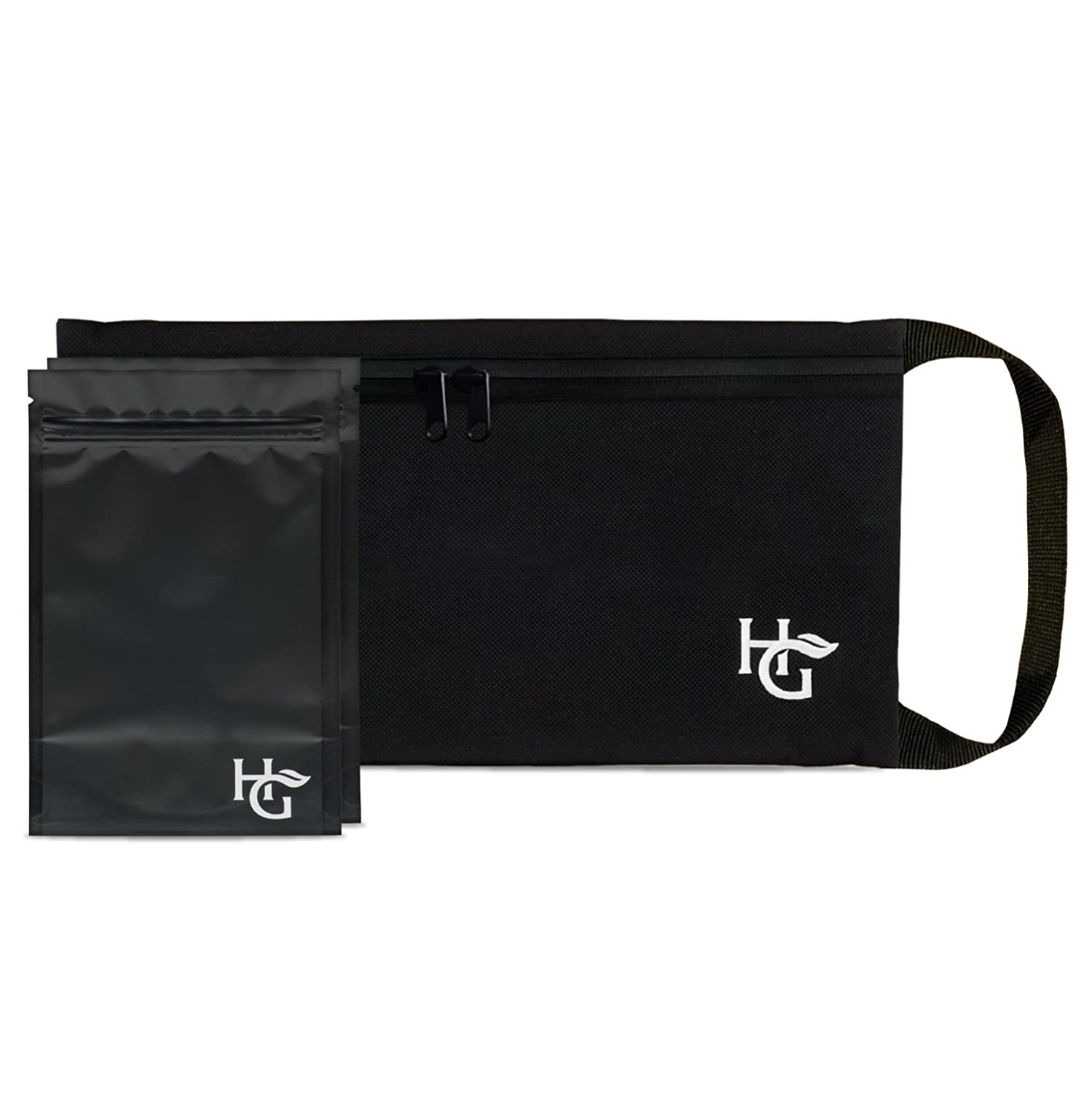 Discreet Smell Proof Bag with Zipper by Herb Guard (11x6 inches, Holds 2 Ounces) - Comes with 2 Resealable Travel Bags to Store Dried Foods, Spices, Herbs and Consumable Good