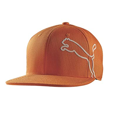 Puma Golf- Monoline Snapback Cap, Vibrant Orange/White