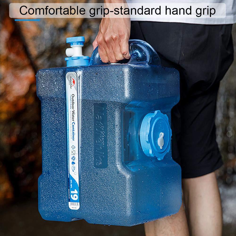 Camping,12//19L Im Freien 332PageAnn Wasserkanister Trinkwasserkanister Tragbare Wasserspender Mit Hahn//Wasserauslauf F/ür Auto