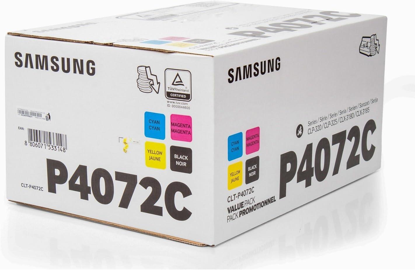 Genuine Samsung cltp 4072 C//SU382A Multipack CARTUCCIA TONER PER CLX-3185FN