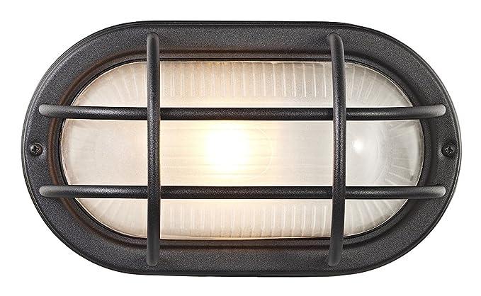 Tartarughe per esterni ovale nero opaco alluminio pressofuso da