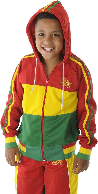 rasta4real Childrens Lion of Judah Jamaica Africa Rasta Hoodie Jacket