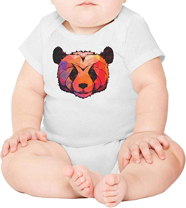 d48a0d781 Kijhsaa Abstract Panda Infant Boys Girls Short Sleeve Baby Onesie Baby's  Creeper
