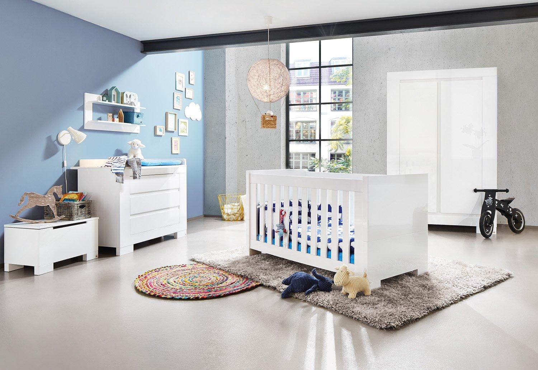 Lit bébé évolutif et commode à langer Sky – blanc brillant: Amazon ...