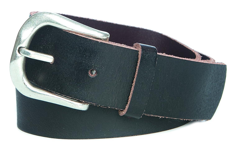 hochwertiger Ledergürtel Jungen Jeansgürtel Trachten Gürtel Antikleder Eindornschnalle 35mm schwarzbraun : )