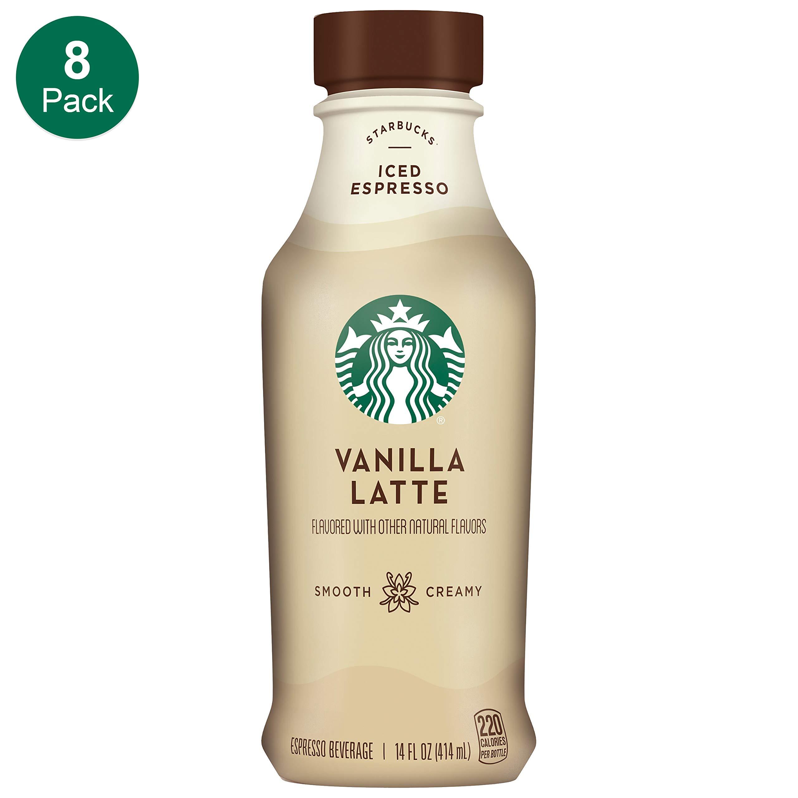 Starbucks Iced Latte, Vanilla, 14 Fl Oz (Pack of 8) by Starbucks