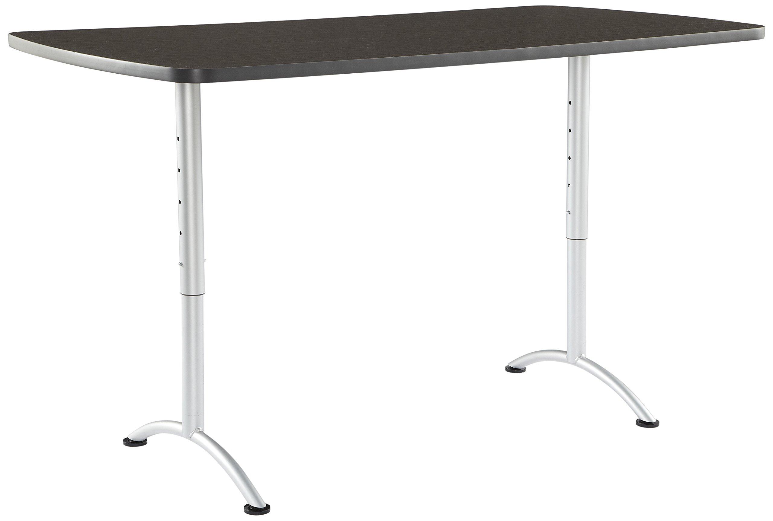 Iceberg ICE69325 ARC 6-foot Adjustable Height Rectangular Conference Table, 36'' x 72'', Gray Walnut/Silver Leg by Iceberg (Image #2)