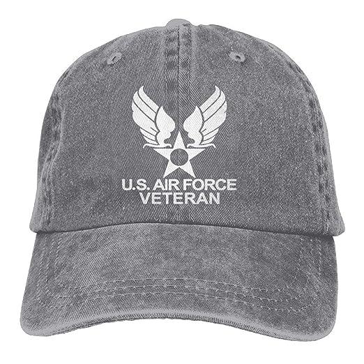 GEORAP US Air Force Veteran USAF Low Profile Plain Baseball Cap Vintage  Washed Adjustable Dad Hat b11b4d84c31