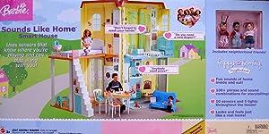Barbie Happy Family SOUNDS LIKE HOME SMART HOUSE Playset HOME w SENSORS, LIGHTS & SOUNDS (2004)