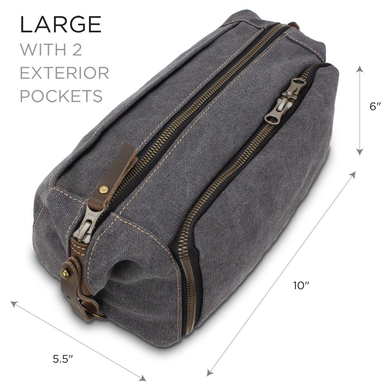 Habitoux -DOPP Kit Mens Toiletry Travel Bag YKK Zipper Canvas    Leather  ( 507d6449c9