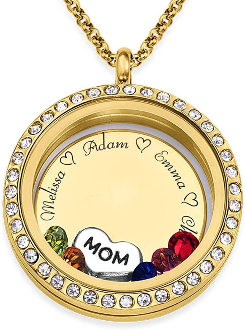 PERSONALISED floating locket with photo charm for your living locket
