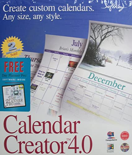 amazon com calendar creator 4 0