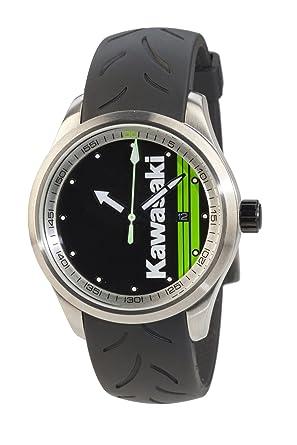 Kawasaki cuarzo cronógrafo reloj de pulsera verde negro con 2 pulseras de bikerworld: Amazon.es: Ropa y accesorios