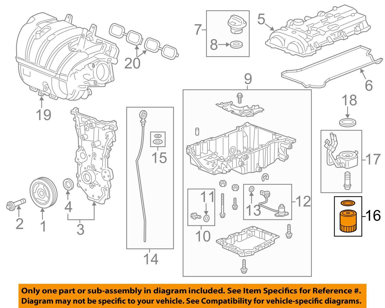 General Motors 12640445 Engine Oil Filter Outlet Diagrams