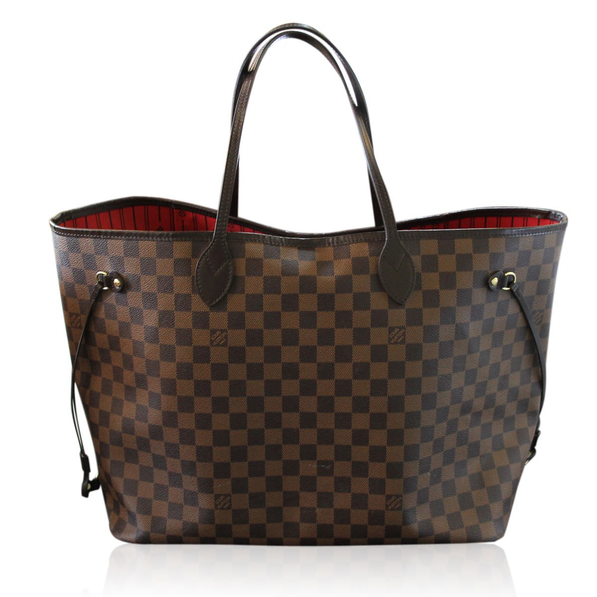 Neverfull Style Canvas Woman Organizer Handbag Damier Tote Shoulder Fashion Bag GM Size by LAMB