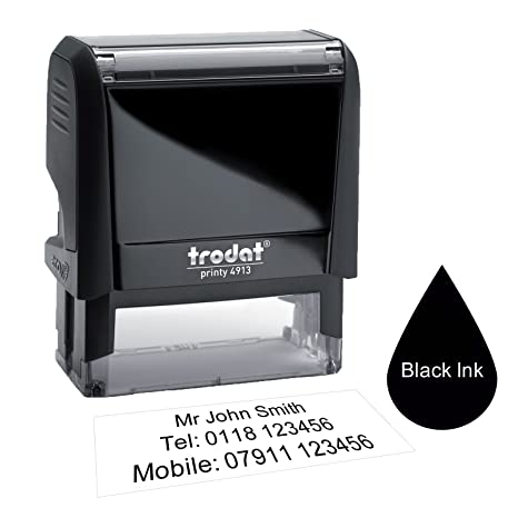 Trodat 4913 58 X 22mm Premium Personalised Custom Made Self Inking Business Address Rubber Stamp Upto Five Lines Of Text