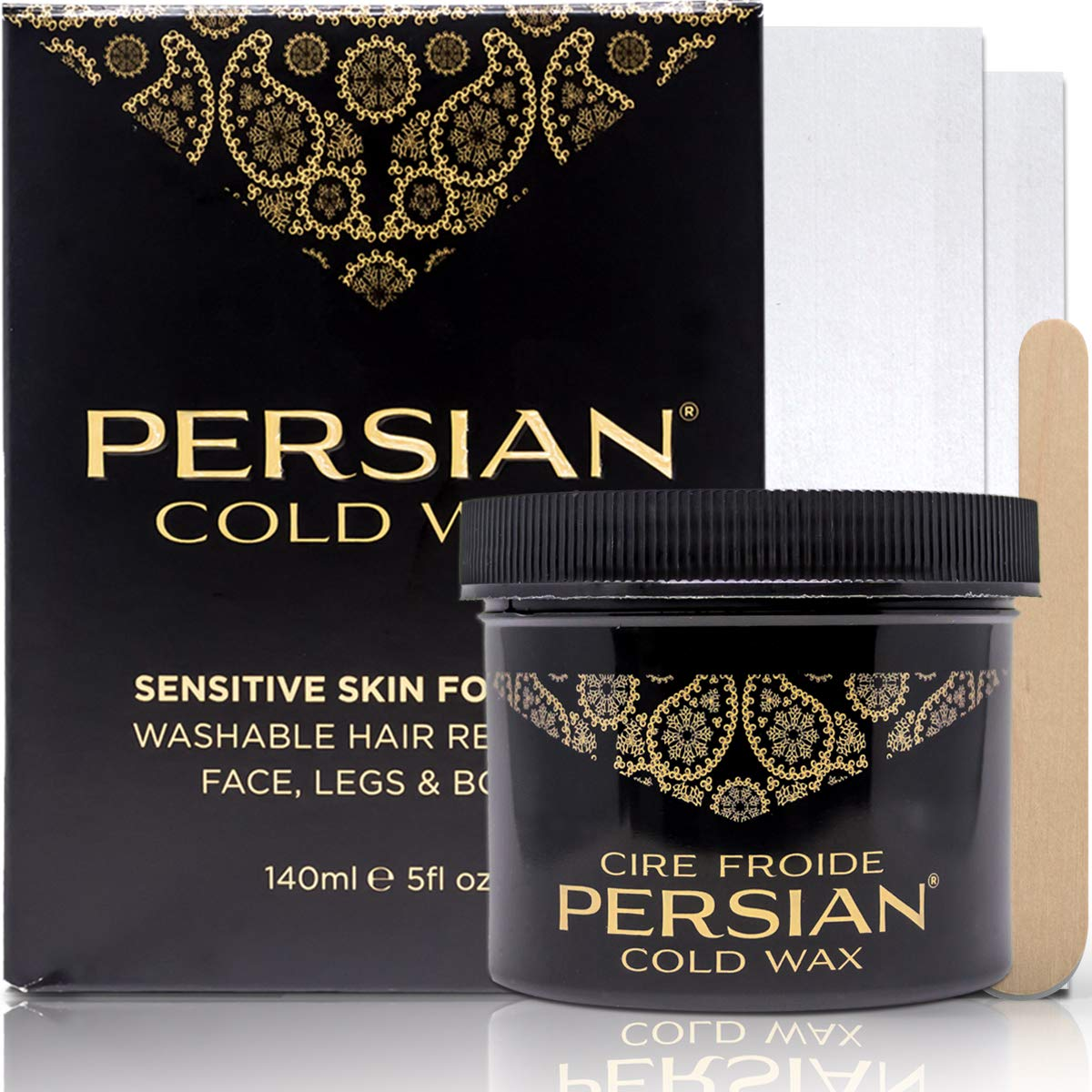 Parissa Persian Cold Wax Hair Remover Kit, Small, 5 Oz