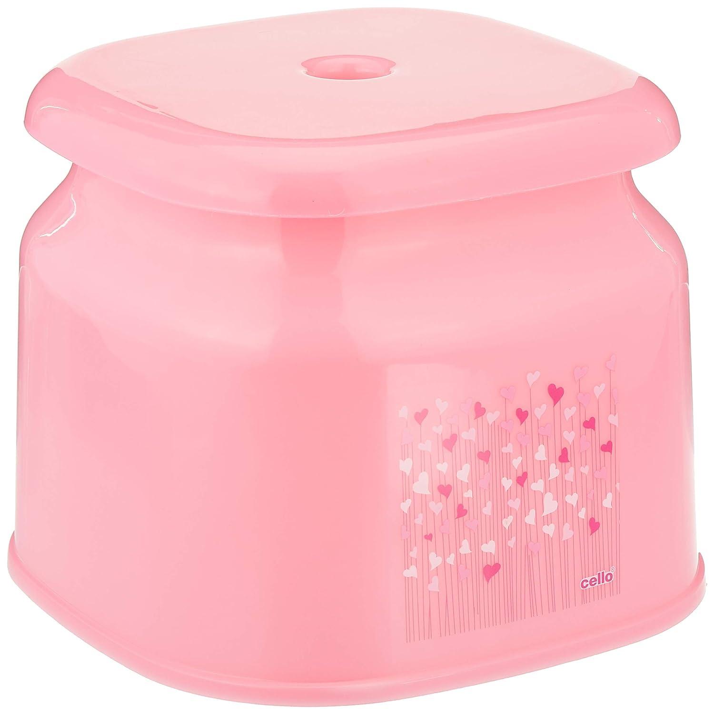 Cello Plastic Marbella Swing Dustbin, 10 Litre, Pink, Set of 1