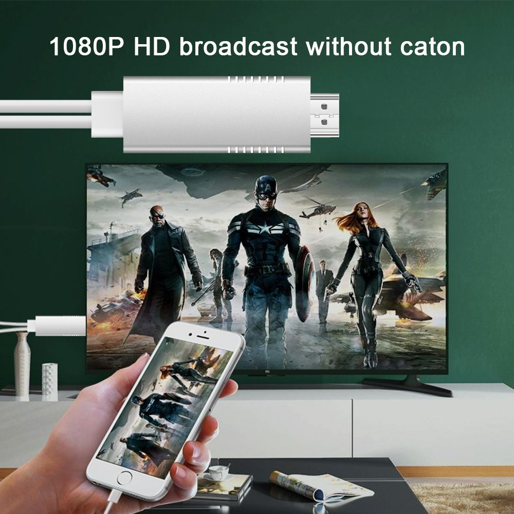 MHL to HDMI Video Cable Adapter, Weton HD 1080P Video Digital AV Cable AirPlay HDTV Adapter MHL USB Cable Compatible for All Smart Phones to TV/Projector/Monitor by Weton (Image #5)