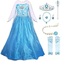 JerrisApparel Snow Party Dress Queen Costume Princess Cosplay Dress Up