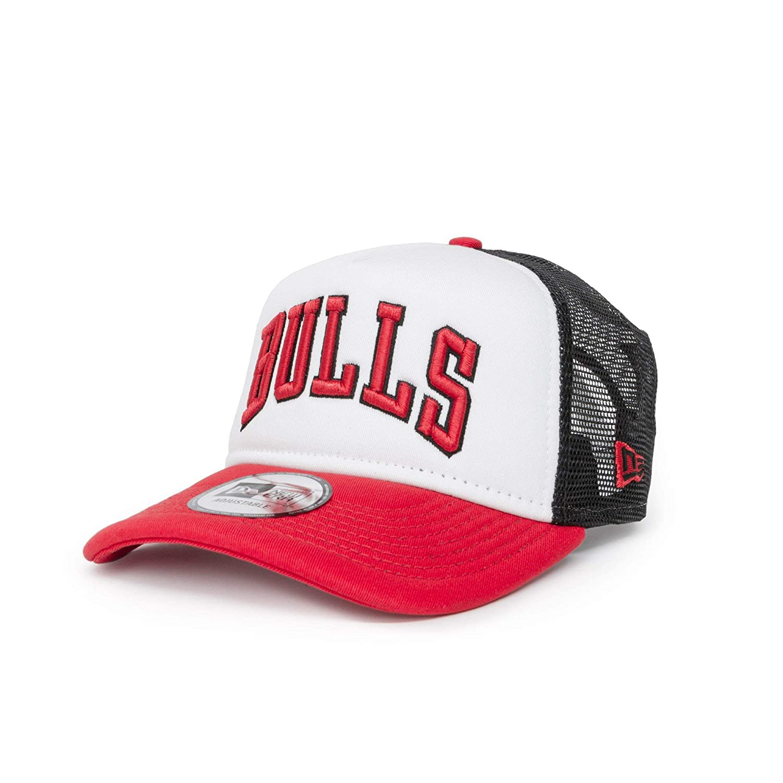 A NEW ERA Gorra Trucker Colour Block Chicago Bulls Blanco-Rojo